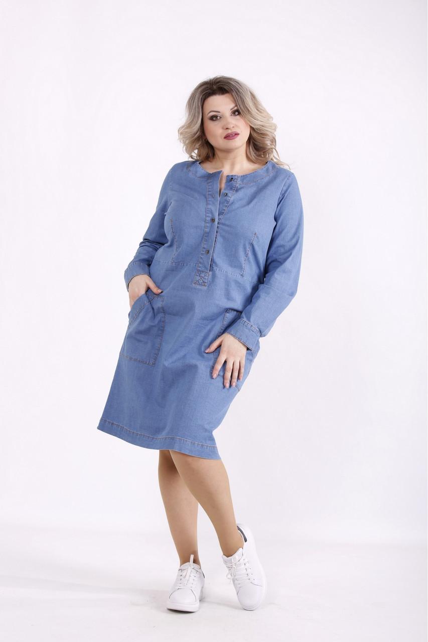 Джинсовое платье с 42 по 74 размер