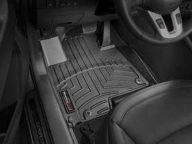 Ковры резиновые WeatherTech Kia Sportage 2010-2015  передние черные ( клипсы )
