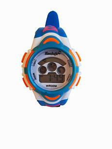 Детские электронные часы Haozhufu lines Голубые (Hzh-1025Bl)