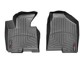 Ковры резиновые WeatherTech Hyundai ix35 2010-2014  передние черные ( крючки )
