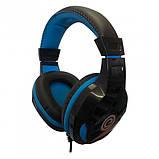 Ігрові дротяні навушники E-LISTEN G1 з мікрофоном Black / Blue (EG1), фото 3