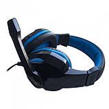 Ігрові дротяні навушники E-LISTEN G1 з мікрофоном Black / Blue (EG1), фото 4