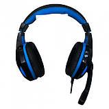 Ігрові дротяні навушники E-LISTEN G1 з мікрофоном Black / Blue (EG1), фото 5