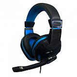 Ігрові дротяні навушники E-LISTEN G1 з мікрофоном Black / Blue (EG1), фото 6