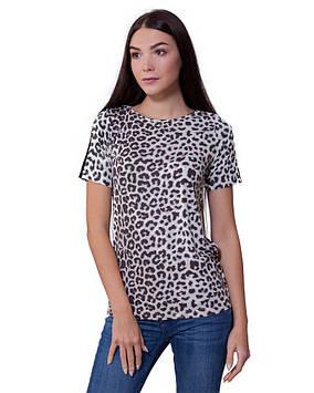 Футболка женская леопардовая (размеры XS-2XL)
