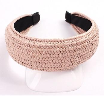 Модний плетений обруч 2020 - Рожевий