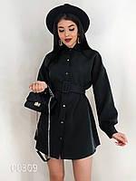 Платье для девушек из крепкостюмки, 00309 (Черный), Размер 42 (S)