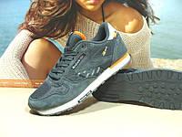 Мужские кроссовки Reebok classic (реплика) серые 45 р., фото 1