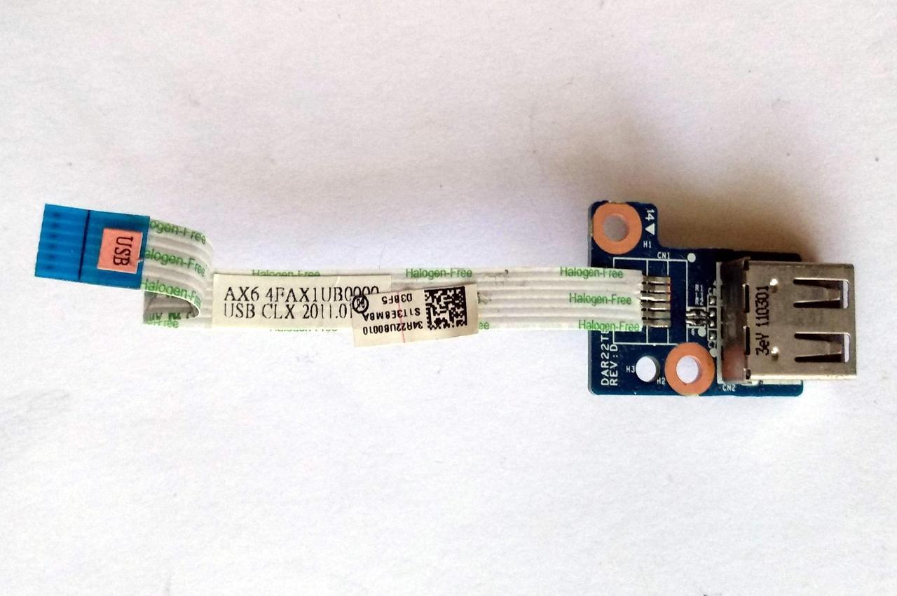 416 Разъем USB HP g6-1000 g7-1000 Series - DAR22TB16D0