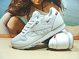 Мужские кроссовки Reebok classic (реплика) белые 43 р., фото 4