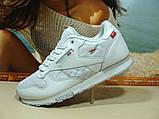 Мужские кроссовки Reebok classic (реплика) белые 45 р., фото 6
