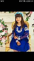 Красивое детское вышитое платье