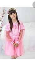 Модное детское вышитое платье