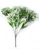 """Біла """"спірея 31см""""штучний кущ зелені для прикраси приміщень, фото 1"""