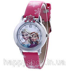 """Детские наручные часы для девочки """"Холодное сердце"""" (Ярко-розовые)"""