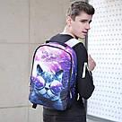 Городской рюкзак галактика(космос) с котом в очках., фото 8