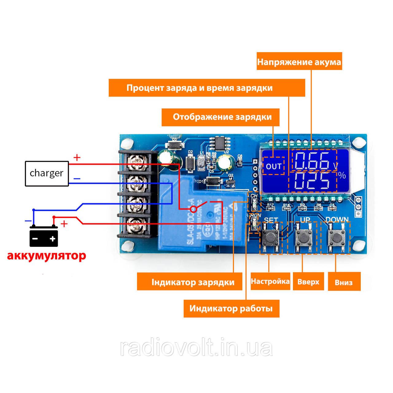 XY-L30A - Универсальный контроллер заряда аккумуляторных батарей 6...60В, 30А