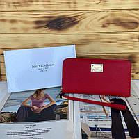 Женский кожаный кошелек клатч Dolce & Gabbana D&G Дольче Габбана реплика
