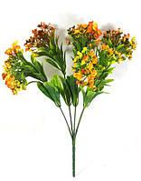 """Оранжевая""""спирея 31см""""искусственный куст зелени для украшения помещений"""