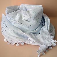 Нежный женский платок крепдешин с узором