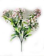 """Нежно розовая""""спирея 31см""""искусственный куст зелени для украшения помещений и рукоделия"""