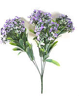 """Фиолетовая""""спирея 31см""""искусственный куст зелени для украшения помещений и рукоделия"""