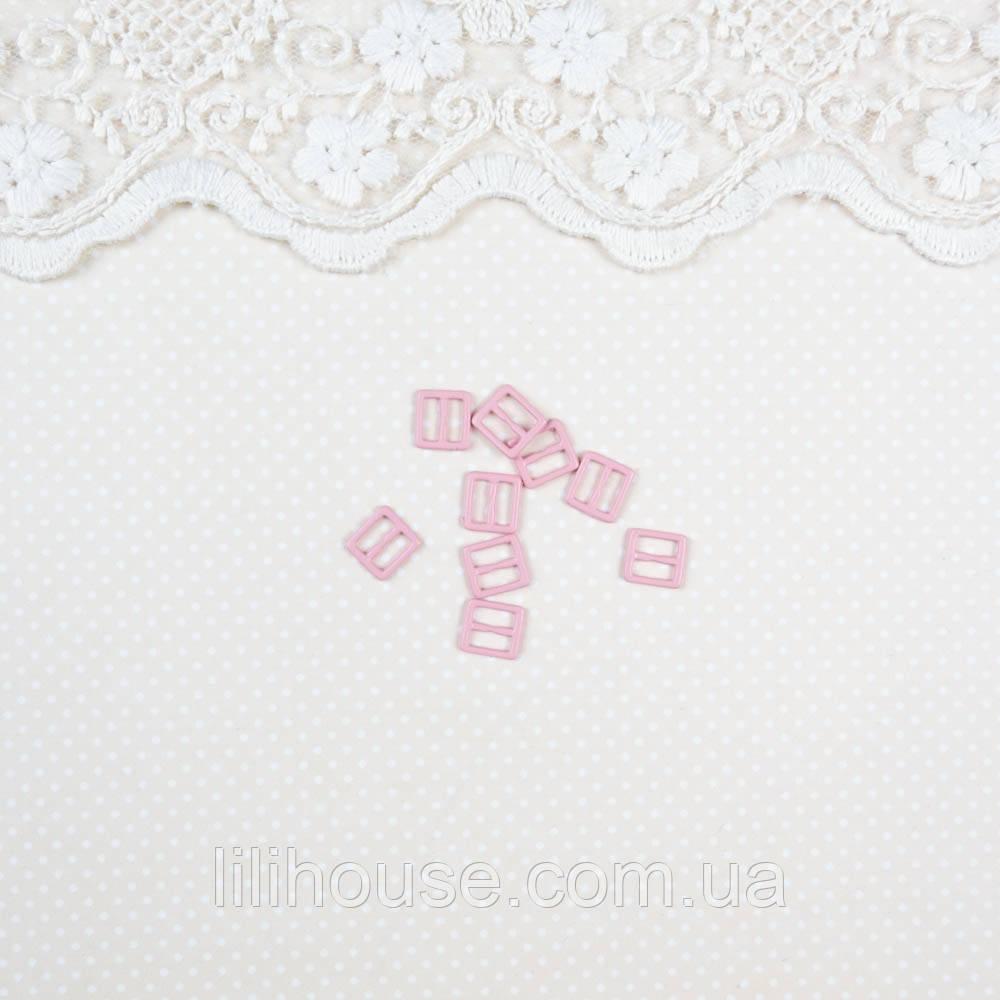 Мини пряжки для кукольной одежды и сумок, 8*7 мм - 5 шт, нежно розовые