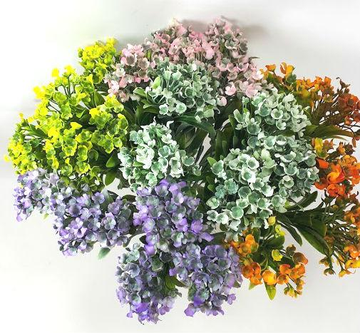Искусственные кусты зелени ,цветов ,травы для оформления помещений и рукоделия.