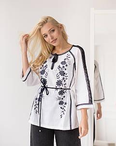 Жіноча вишита  блуза Катерина біла