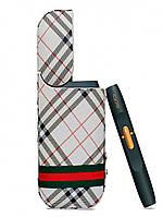 Чехол для IQOS с имитацией кожи Сафьян Burberry wLfZ82721, КОД: 719225