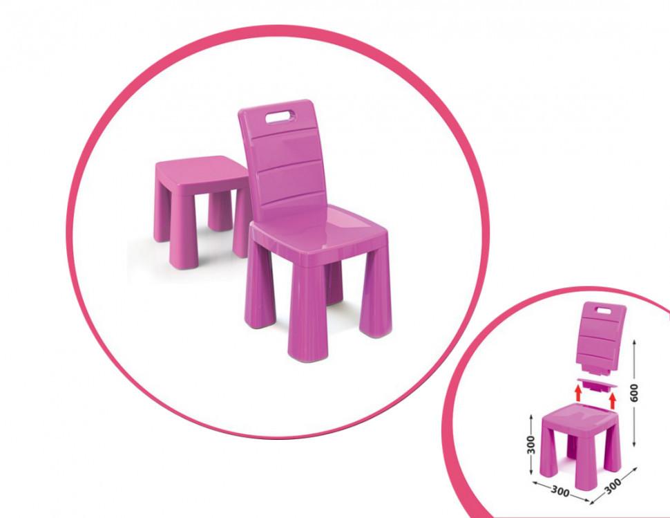 Детский стул-табурет 04690/1/2/3/4/5 высота табуретки 30 см (Розовый)