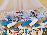"""Комплект постільний """"Koss"""" в дитяче ліжечко, з бортиками і балдахіном, фото 2"""