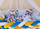 """Комплект постільний """"Koss"""" в дитяче ліжечко, з бортиками і балдахіном, фото 6"""