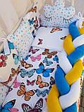 """Комплект постільний """"Koss"""" в дитяче ліжечко, з бортиками і балдахіном, фото 7"""