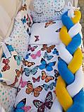 """Комплект постільний """"Koss"""" в дитяче ліжечко, з бортиками і балдахіном, фото 8"""