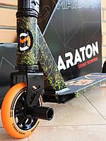 Самокат Трюковой Maraton Shark 110 HIC ODG + пеги, Трюковый, колеса метал алюминиевые 110 мм, для трюков
