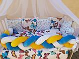 """Комплект постільний """"Koss"""" в дитяче ліжечко, з бортиками і балдахіном, фото 9"""