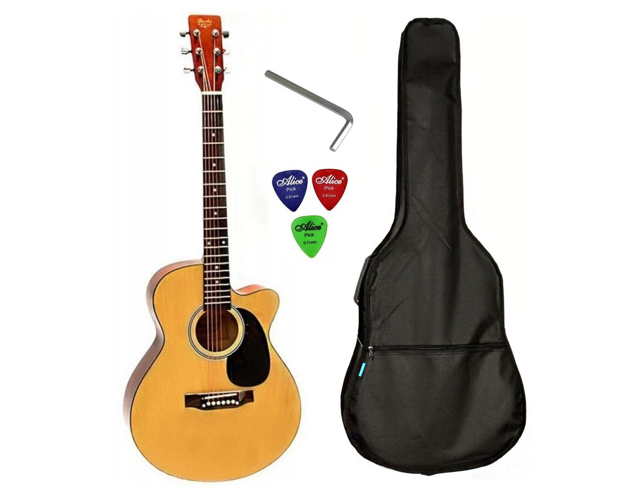 Набор акустическая гитара Bandes AG-851C N 39+ чехол