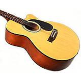 Набор акустическая гитара Bandes AG-851C N 39+ чехол, фото 2