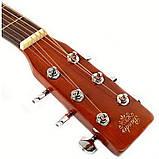 Набор акустическая гитара Bandes AG-851C N 39+ чехол, фото 3
