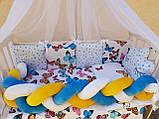 """Комплект постільний """"Koss"""" в дитяче ліжечко, з бортиками і балдахіном, фото 10"""