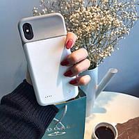 Чехол-аккумулятор для iPhone X / XS 3200 мАч Белый