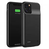 Чехол-аккумулятор для iPhone 11 Pro Max 4500 мАч Черный