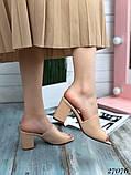 Женские шлепанцы сабо на каблуке, эко кожа, в расцветках, фото 2