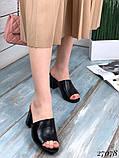 Женские шлепанцы сабо на каблуке, эко кожа, в расцветках, фото 6