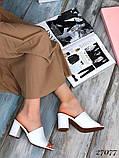 Женские шлепанцы сабо на каблуке, эко кожа, в расцветках, фото 8