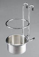 Полка навесная на релинг для стакана (сатин)
