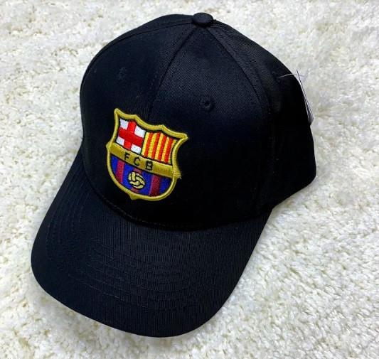 Кепка Барселона черная хлопок