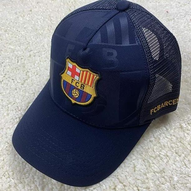 Кепка тракер Барселона темно-синяя