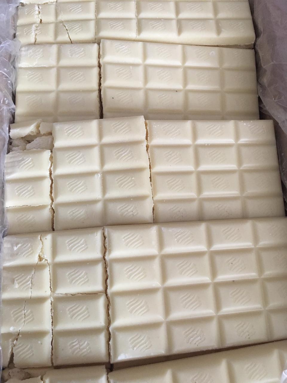 Шоколад білий пористий некондиція